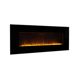 "Superior 60"" Wall Mounted Linear Electric Fireplace - Crackle Fireplaces"