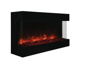 "Amantii Panorama TRU-VIEW XL 40"" Built-in Electric Fireplace - Crackle Fireplaces"