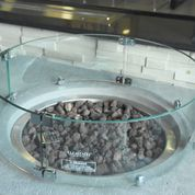 Elementi Wind Screen For Boulder Fire Table - Crackle Fireplaces