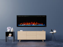 "Touchstone Sideline Elite 50"" Recessed Electric Fireplace - Crackle Fireplaces"