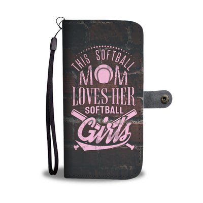 Softball Mom Loves Girls - Wallet Case