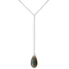 Teardrop Lariat Necklace