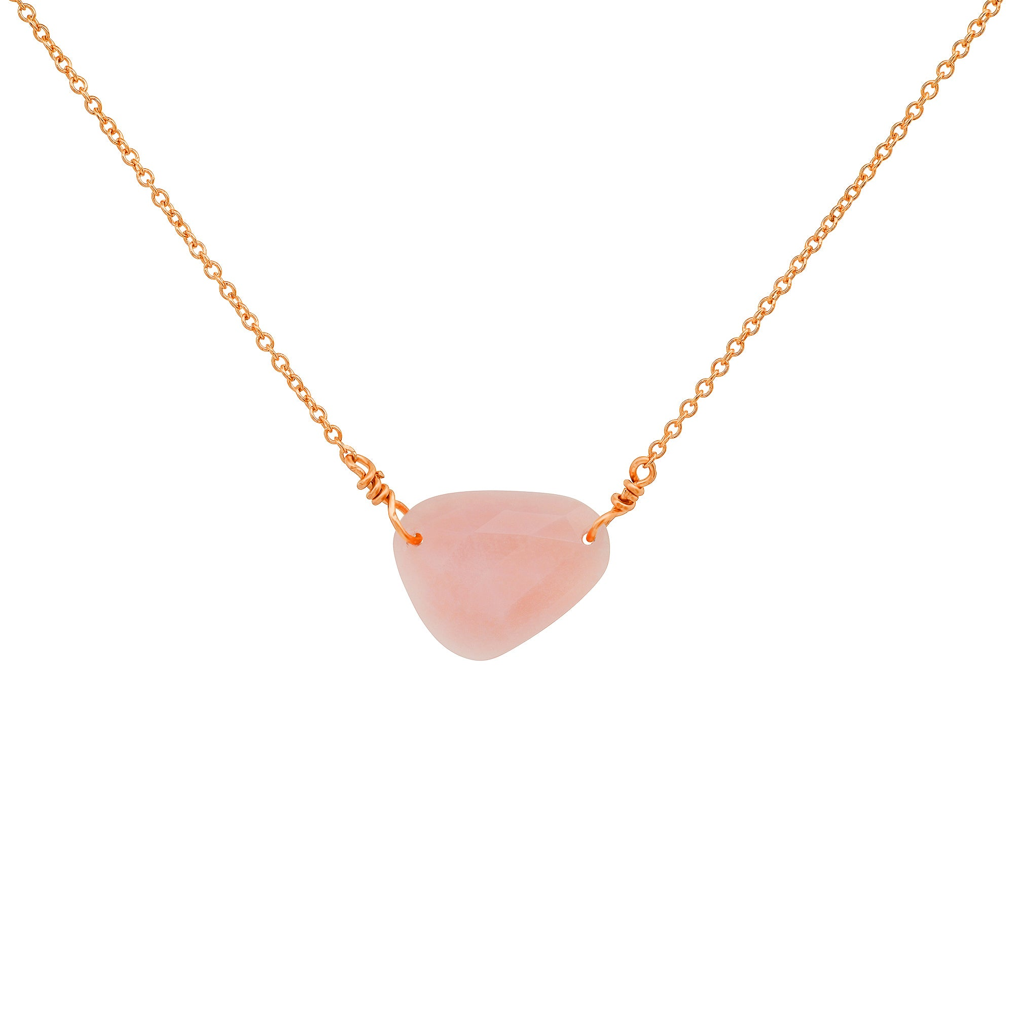 Pink Opal Freeform Necklace