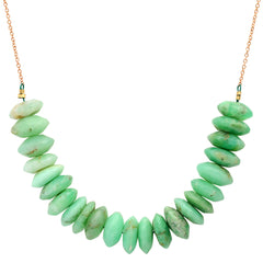 Chrysoprase Slice Necklace