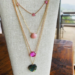 Tourmaline Tri Necklace