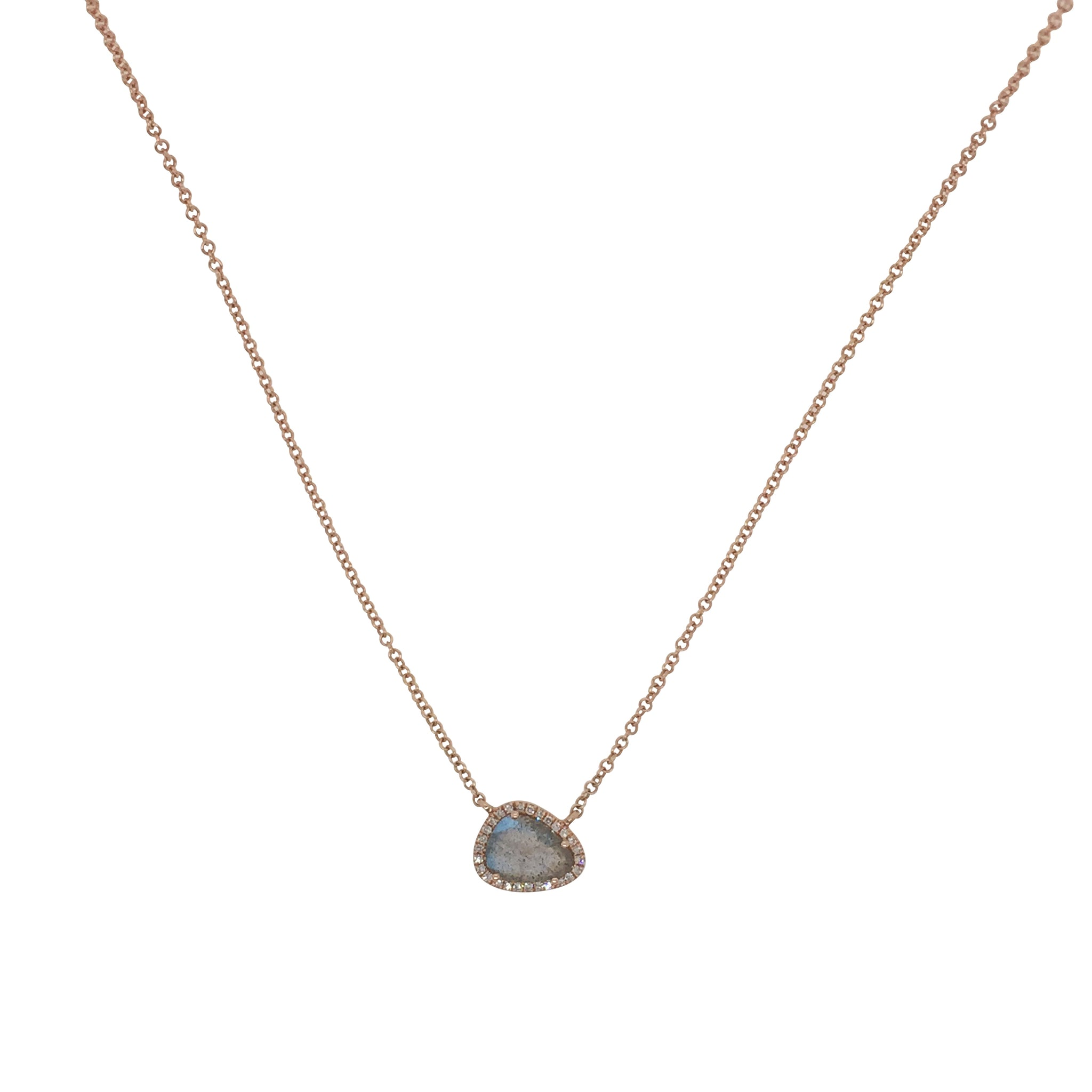 Labradorite Oblong Necklace