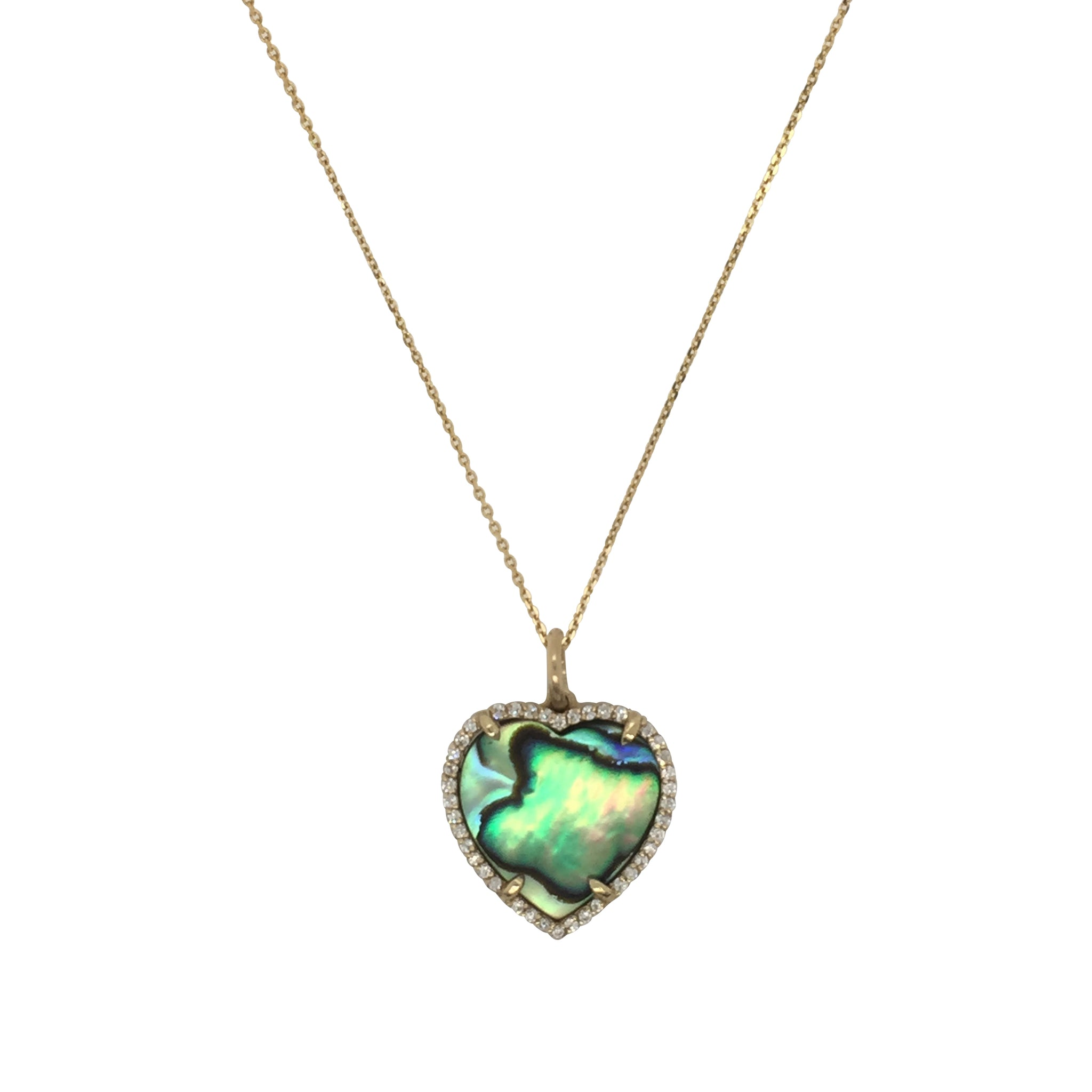 Abalone Heart Necklace