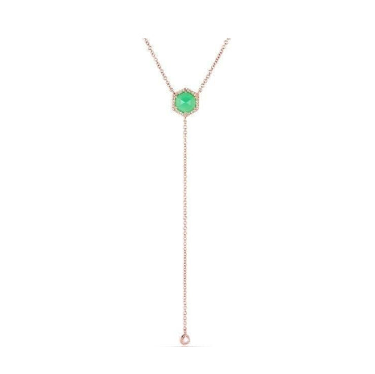 Chrysoprase Lariat Necklace