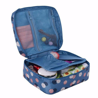 Waterproof Dots Travel Cosmetic Makeup storage