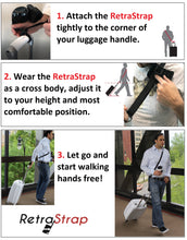 (U.S.) RetraStrap Hands Free your carry-on luggage - Anti theft. Anti-Forgetting less stress