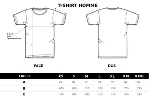 Guide des tailles T-shirts Homme