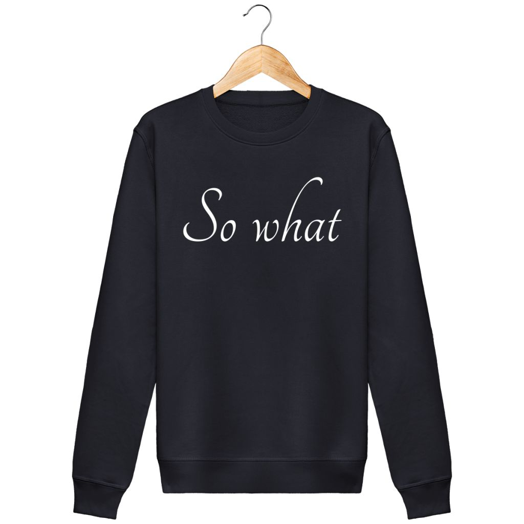 Sweat Femme Bio - So What Bleu Marine / Xs Unisexe>Sweatshirts