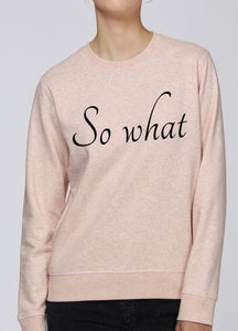 Sweat Femme Bio - So What Rose Chiné / Xs Unisexe>Sweatshirts