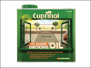 UV Guard Decking Oil Natural Oak 2.5 Litre