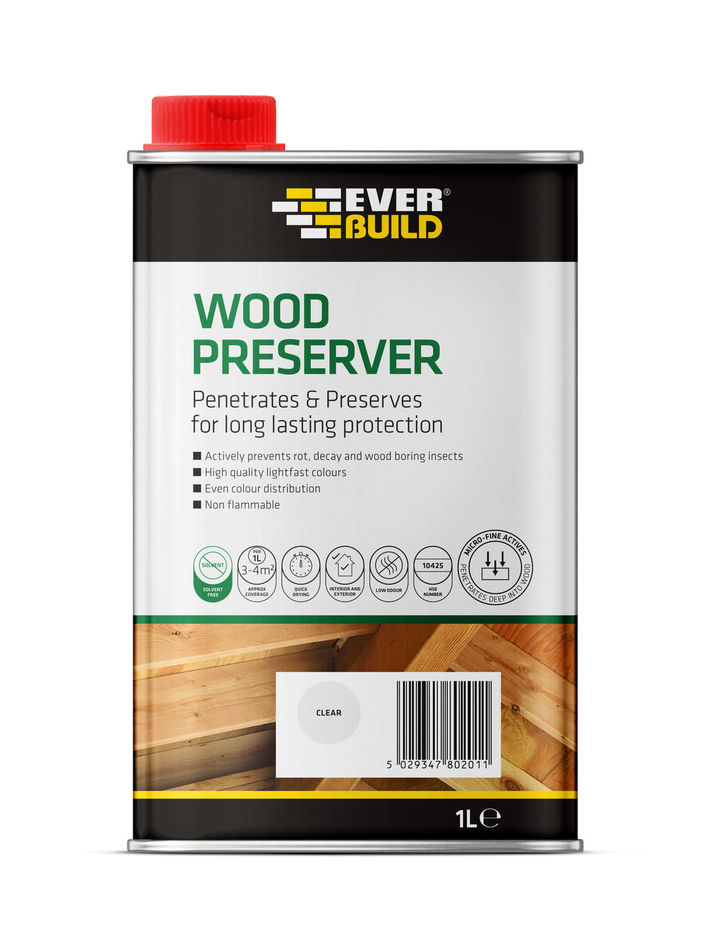 Everbuild Clear wood Preserver 1L