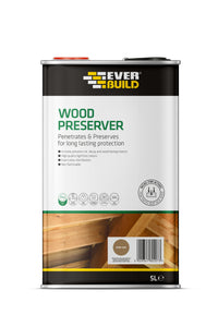 Everbuild Dark Oak Wood preserver 5L