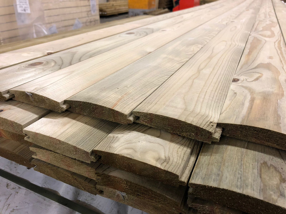 Treated redwood loglap