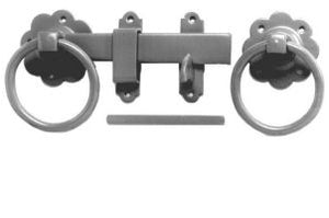 "150mm 6"" No.1136 Plain Ring Handled Gate Latches - PREPACKED"