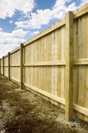 Feather edge fencing fully erected