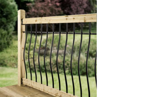 Arc Black Baluster Decking Kit