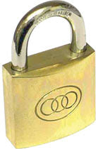 Tri-circle Brass 50mm Short Shackle Padlock