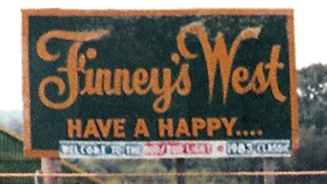 Finney's West Have A Happy Billboard