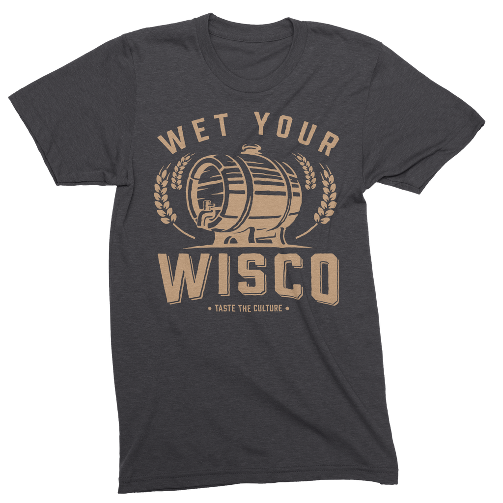 Wet Your Wisco Unisex Triblend Tee