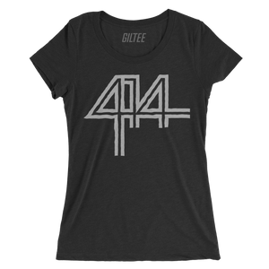 The 414 Charcoal Black Triblend Women's Tee - GILTEE