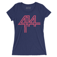 The 414 Navy Triblend Women's Tee