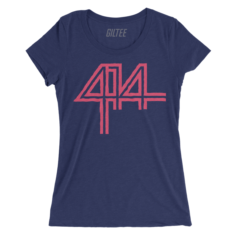 The 414 Navy Triblend Women's Tee - GILTEE