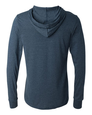 The Wauwatosa Standard Navy Unisex Longsleeve Hooded Tee