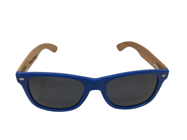 Royal Blue GILTEE Bamboo Sunglasses
