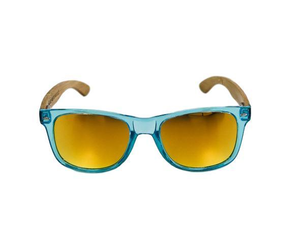 Poolside Blue Bamboo Sunglasses - GILTEE