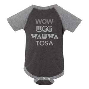 Wow Wee Wauwatosa Infant Triblend Onesie - Charcoal