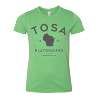 The Wauwatosa Standard Green Youth Triblend Tee