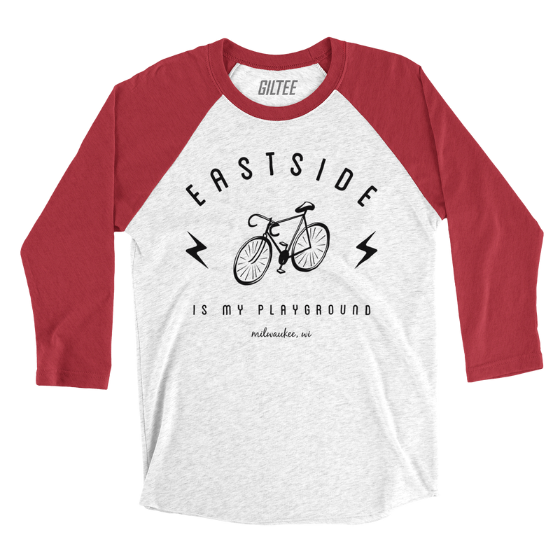 The Eastside Bolt Red & White Baseball Tee - GILTEE
