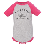 The Milwaukee Bolt Infant Hot Pink Raglan Onesie