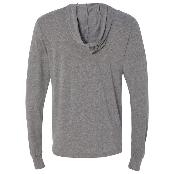 The Freshair Grey Triblend Hooded Long Sleeve Unisex Tee - GILTEE