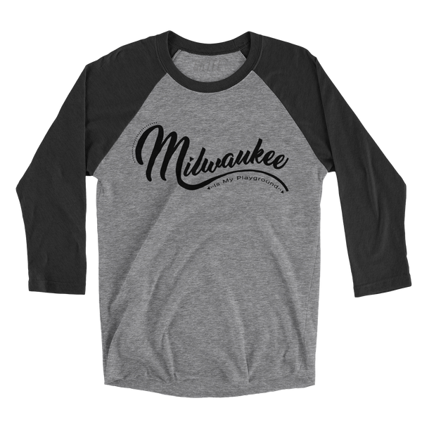 The Milwaukee Kaufman Black & Grey Baseball Tee