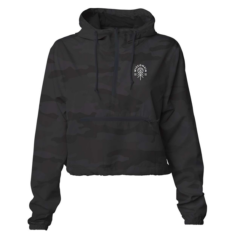 The Native Essential Women's Windbreaker - Black Camo - GILTEE