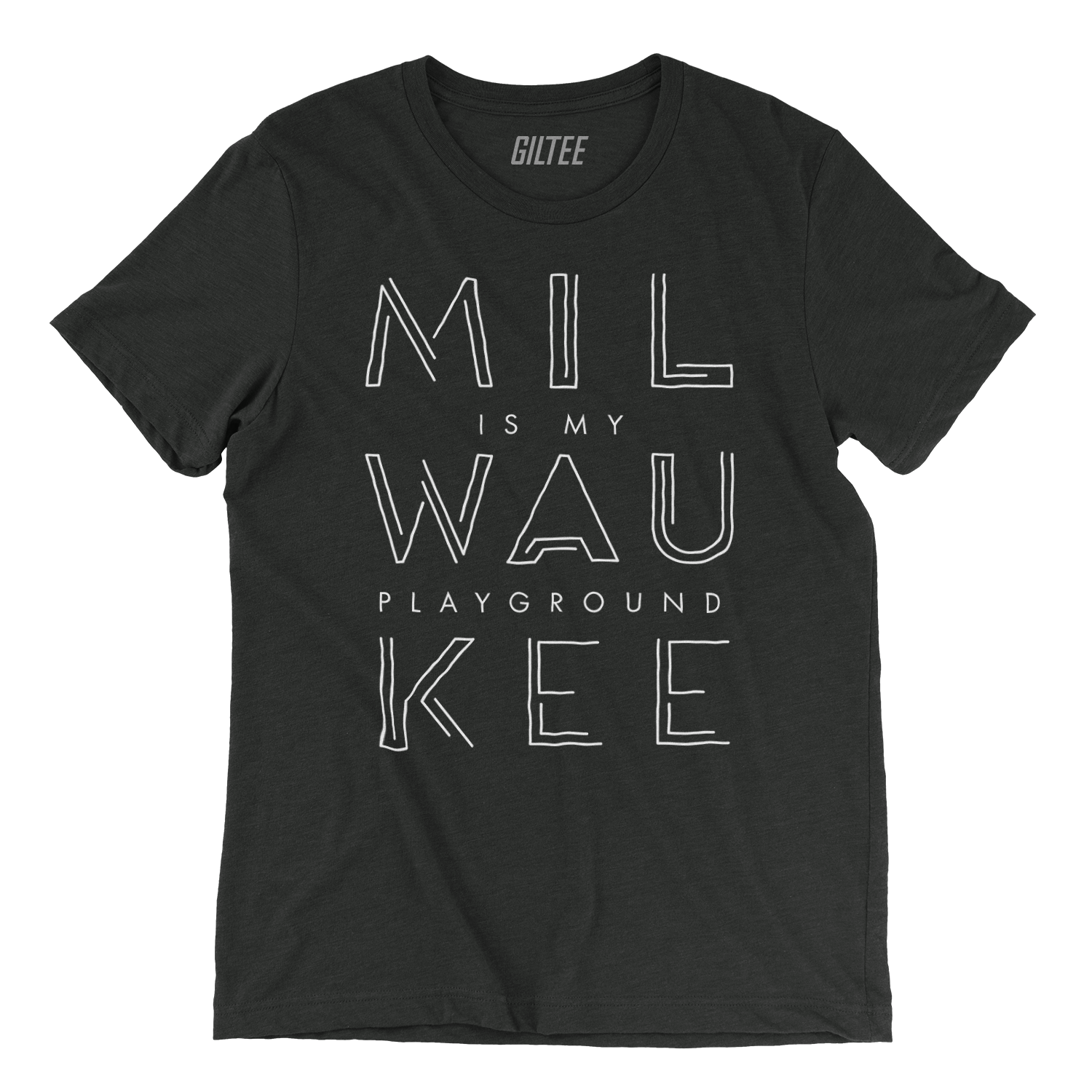 The Milwaukee Pipeline Charcoal Unisex Triblend Tee - GILTEE