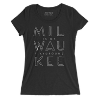 The Milwaukee Pipeline Charcoal Women's Triblend Tee