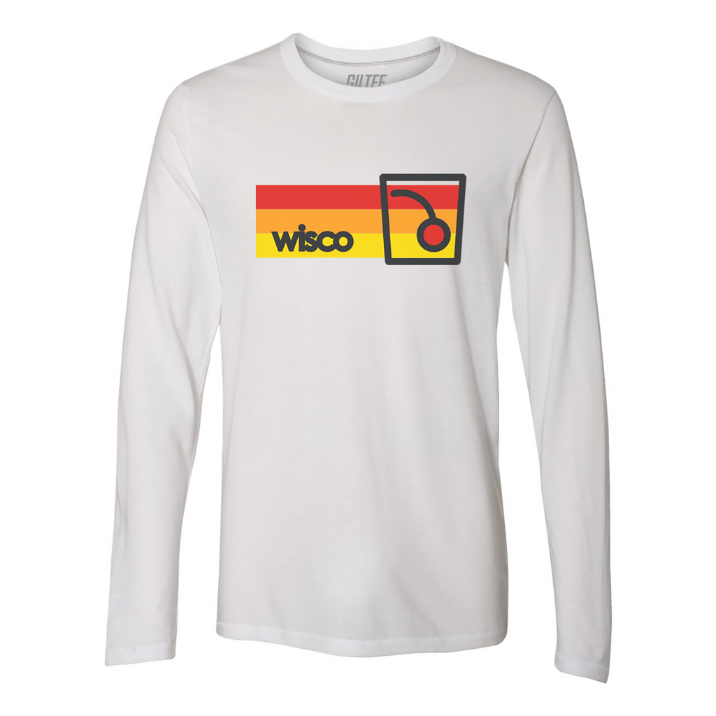 WISCO Old Fashioned Vintage White Long Sleeve Tee