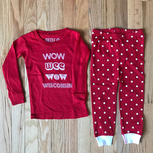 Wow Wee Wow Wisconsin Infant & Toddler Pajamas - Red & White