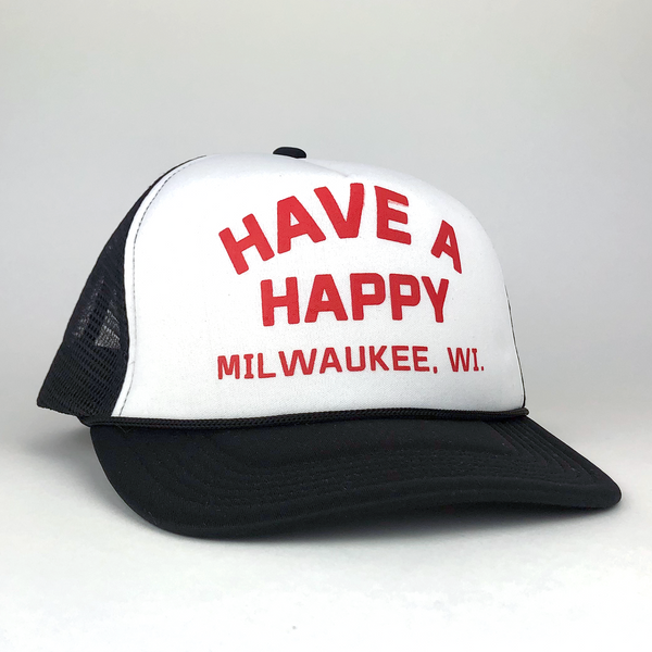 Have A Happy Vintage Foam Trucker - GILTEE