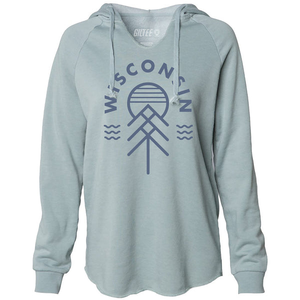 The Wisconsin Native Women's Hoodie - Sage Green - GILTEE