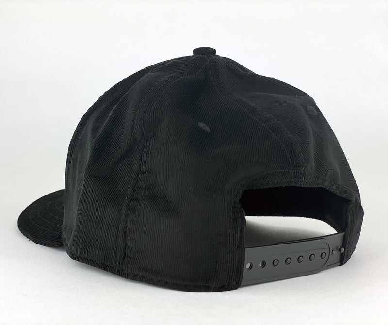 Wisco Old Fashioned Black Corduroy Snapback Hat