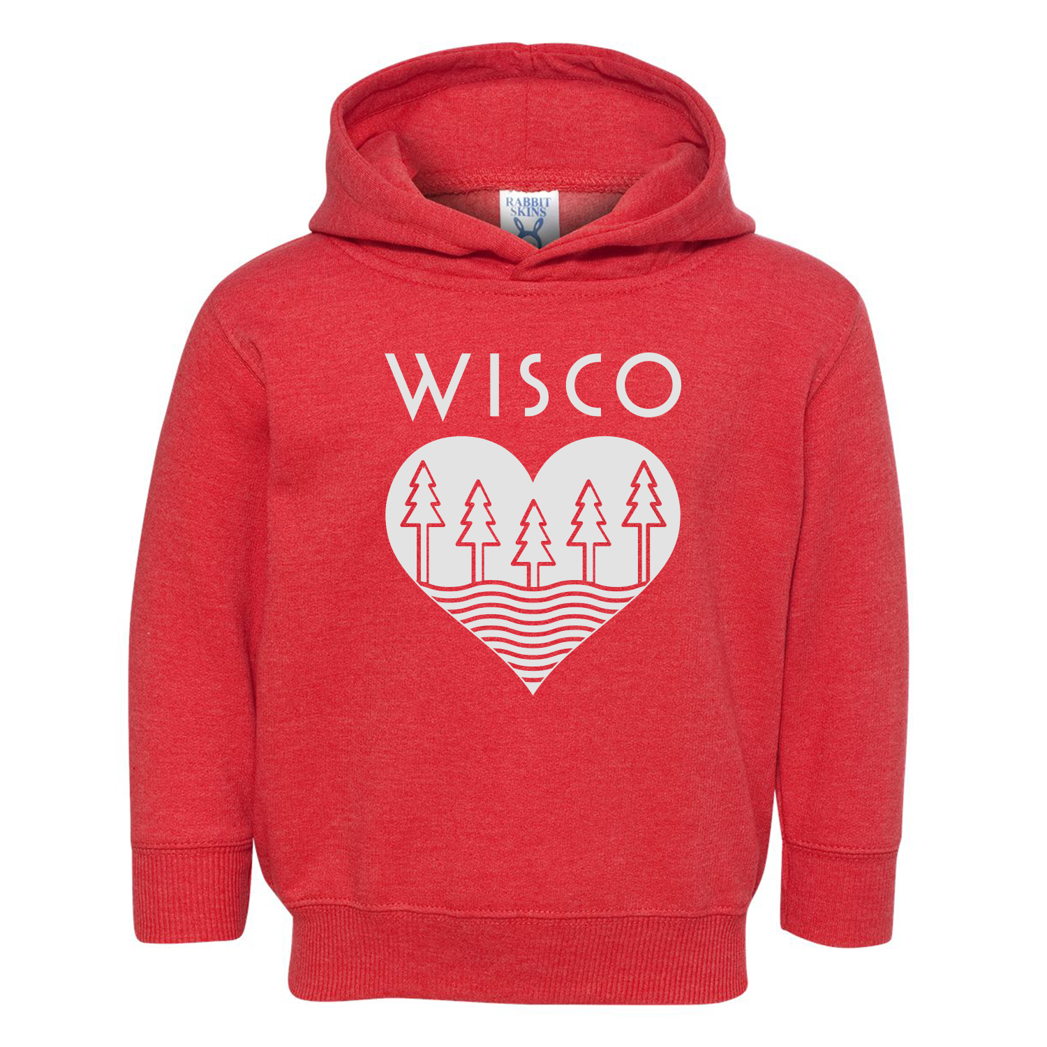 The Wisco Roots Red Toddler Hoodie