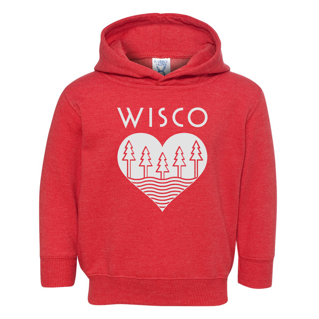 The Wisco Roots Red Toddler Hoodie - GILTEE