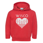 The Wisco Roots Red Youth Hoodie